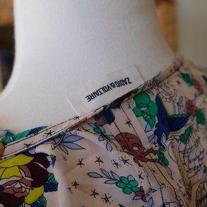 RARE Zadig & Voltaire tattoo silk summer dress